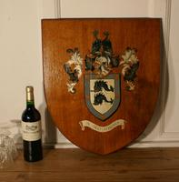 Large Coat of Arms of Brighton Oak Wall Plaque / Shield