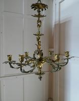 French Gilded Brass 6 Branch Rococo Chandelier (5 of 11)