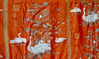 """A Very Large Pair of Lined Greeff Vintage Curtains """"Aviary From the Emperors"""" Fabric (2 of 9)"""