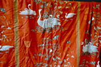 """A Very Large Pair of Lined Greeff Vintage Curtains """"Aviary From the Emperors"""" Fabric (6 of 9)"""