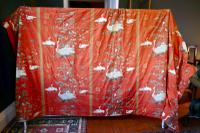 """A Very Large Pair of Lined Greeff Vintage Curtains """"Aviary From the Emperors"""" Fabric (5 of 9)"""