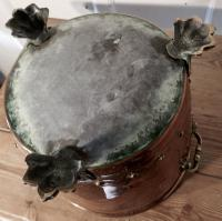 19th Century Copper Log Bin Cauldron (2 of 7)