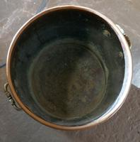 19th Century Copper Log Bin Cauldron (4 of 7)