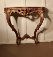 Old French Gilt Console or Hall Table (3 of 6)