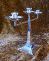 James Dixon & Sons Three-Branch Silver Plated Candelabra (8 of 10)