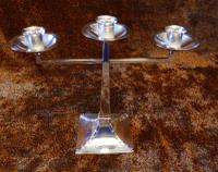 James Dixon & Sons Three-Branch Silver Plated Candelabra (2 of 10)