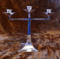 James Dixon & Sons Three-Branch Silver Plated Candelabra (3 of 10)