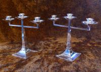 James Dixon & Sons Three-Branch Silver Plated Candelabra (9 of 10)