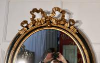 Large French Ebonised & Gilt Oval Wall Mirror (6 of 7)
