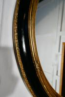 Large French Ebonised & Gilt Oval Wall Mirror (4 of 7)