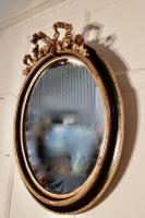 Large French Ebonised & Gilt Oval Wall Mirror (3 of 7)