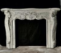 Large 19th Century Simulated Marble Adams Style Fire Place (3 of 7)