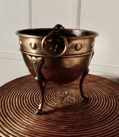 Brass Arts and Crafts Jardiniere by Henry Loveridge (6 of 8)