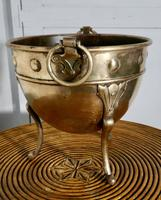 Brass Arts and Crafts Jardiniere by Henry Loveridge (3 of 8)