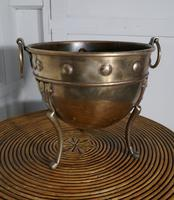 Brass Arts and Crafts Jardiniere by Henry Loveridge (2 of 8)