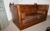 Large Dark Tan Leather Knole Settee (3 of 9)