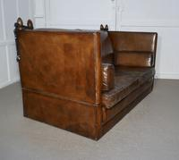 Large Dark Tan Leather Knole Settee (8 of 9)
