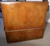 Large Dark Tan Leather Knole Settee (4 of 9)