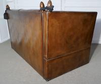 Large Dark Tan Leather Knole Settee (9 of 9)