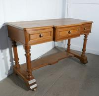 Arts and Crafts Pitch Pine Writing Table (2 of 7)