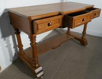 Arts and Crafts Pitch Pine Writing Table (3 of 7)
