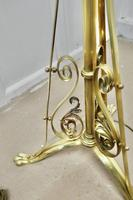 Adjustable Brass Floor Lamp in the Arts & Crafts Style (5 of 7)