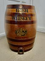 19th Century 10 Gallon Stoneware Irish Whiskey Barrel, from The Crown Inn