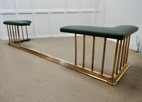 Very Large Brass & Green Leather Club Fender (5 of 5)
