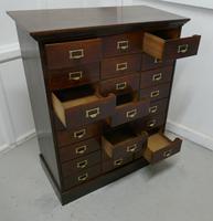 Large 24 Drawer Edwardian A4 Oak Filing Cabinet (9 of 11)