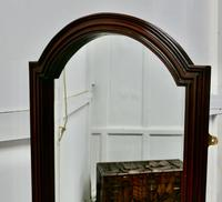 """Mirror with Arch Top Moulded 2.5"""" Wide Mahogany Frame (3 of 5)"""