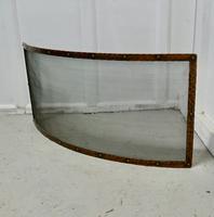 Victorian Arts & Crafts Beaten Copper Curved Fire Guard, Spark Screen (3 of 4)