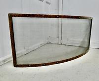 Victorian Arts & Crafts Beaten Copper Curved Fire Guard, Spark Screen (4 of 4)
