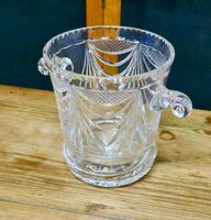 French Art Deco Hand Blown Cut Crystal Champaign Ice Bucket, Wine Cooler (2 of 5)