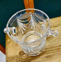 French Art Deco Hand Blown Cut Crystal Champaign Ice Bucket, Wine Cooler (4 of 5)
