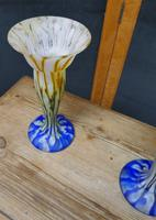 Stunning Pair of French 19th Century End of Day Vases (4 of 6)