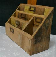 Distressed Industrial Look Desk Top Stationary Box Letter Rack (2 of 8)