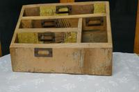 Distressed Industrial Look Desk Top Stationary Box Letter Rack (4 of 8)