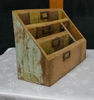 Distressed Industrial Look Desk Top Stationary Box Letter Rack (5 of 8)