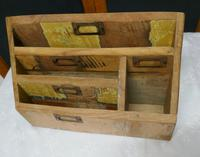 Distressed Industrial Look Desk Top Stationary Box Letter Rack (7 of 8)