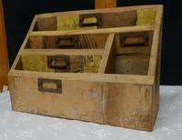 Distressed Industrial Look Desk Top Stationary Box Letter Rack (8 of 8)