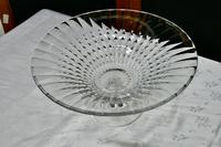 Large French Tazza Diamond Patterned Crystal Pedestal Fruit Dish (4 of 8)