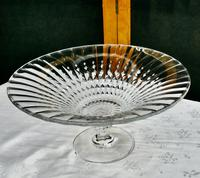 Large French Tazza Diamond Patterned Crystal Pedestal Fruit Dish (8 of 8)