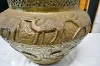 Large Early 19th Century North African Brass Jardiniere Pot (2 of 7)