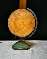 "French Art Deco 10"" World Globe Light (2 of 5)"