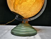 "French Art Deco 10"" World Globe Light (3 of 5)"