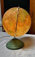"French Art Deco 10"" World Globe Light (5 of 5)"