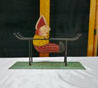 Toy Acrobatic Rocking Painted Tin Plate Clown (2 of 4)