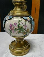 French Napoleon III Ceramic Oil Lamp Decorated with Birds & Flowers (3 of 5)