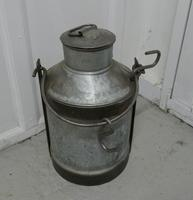 Large 19th Century Galvanised Metal Milk Churn with Iron Strapping (4 of 6)
