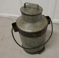 19th Century Galvanised Metal Milk Churn with Iron Strapping (3 of 4)